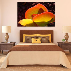 Succulent and Paddle plant Succulent - Create a wow factor in your room with this vibrant succulent art that really glows.