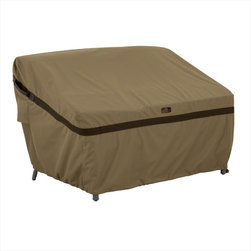 Classic Accessories - Classic Accessories Covers - Hickory Patio Sofa and Bench Covers - Rugged Weather 10 fabric, treated with a wipe-clean inside coating, and a laminated waterproof layer
