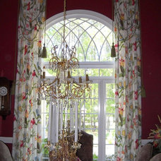 Traditional Dining Room by Lady Dianne's Custom Window & Bed Treatments