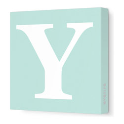 "Avalisa - Letter - Upper Case 'Y' Stretched Wall Art, 12"" x 12"", Sea Green - Spell it out loud. These uppercase letters on stretched canvas would look wonderful in a nursery touting your little one's name, but don't stop there; they could work most anywhere in the home you'd like to add some playful text to the walls. Mix and match colors for a truly fun feel or stick to one color for a more uniform look."