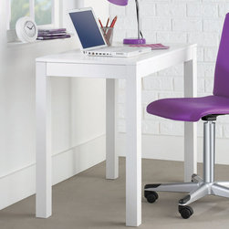 Altra - Parsons Desk - The Parsons Desk is a simple and classic design. The desk can easily fit with any dcor in your house. Place this desk in any of room in your house to help keep your home office organized. Convenient pull out drawer helps to hide papers, pencils, or other office supplies.