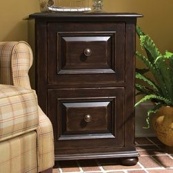 Paula Deen Home Lateral File Cabinet - Tobacco - Just the thing to keep your home office tidy, the Paula Deen Home Lateral File Cabinet - Tobacco is a stylish way to organize. This file cabinet is crafted of knotty cherry veneers and select hardwood solids finished in rich tobacco brown that accentuates the decorative drawer fronts and bun feet. It has two deep drawers with full extension metal guides and comes complete with metal clips and file dividers.About Universal Furniture InternationalRecognized as a leader in exceptionally crafted home furnishings, including bedroom and dining room items, entertainment centers, and more, Universal strives to make items that are styled to endure but always remain fresh. They make it a goal to include features that fit the way their customers live today, and to find prices that put high-quality products within reach. These are the principles that guide the work at Universal, essential elements of good, affordable, and smart design.