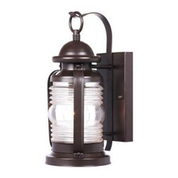 Westinghouse - Westinghouse Outdoor Lanterns. Weatherby Wall-Mount 1-Light Outdoor Weathered Br - Shop for Lighting & Fans at The Home Depot. The Westinghouse Weather by Wall-Mount Lantern features a weathered bronze finish on durable steel. The clear jelly jar-style glass shade creates a bright pool of light just where you need it. From the rectangular back plate, a scroll arm curves up and forward to hold the lantern by its top loop, giving this lantern a traditional nautical look. Install this lantern by your front or back entryway, garage door, deck, patio, balcony or side entrance to provide bright light and a warm welcome. The lantern is 12-3/4 in. x 6 in. (H x W) and extends 7-1/2 in. from the wall. It measures 7-1/4 in. high from the center of the outlet box. The back plate is 7-7/8 in. x 4-3/8 in. (H x W). The fixture uses 1 medium-base light bulb, 60-watt maximum (not included). This Westinghouse exterior fixture is UL listed for safety. It is backed by a 5-year manufacturer's warranty against defects in materials and workmanship.