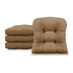 Arlee Microsuede Chamois 16 x 16 in. Hugger Chair Pad - Set of 4 - About Arlee Home FashionsArlee Home Fashions, Inc. manufactures and markets household textiles like decorative pillows, chair pads, floor cushions, curtains, table linens, and pet beds. The company was incorporated in 1976 and is based in New York, New York.