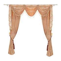 "Ulinkly.com - Luxurious window curtain - Creamy Touch, 54""*84"", 2 Panels with Valance - This price includes 2 panels and valance."