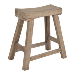 Promenade Teakwood Stool - Aiming for more of a beachy look? This teak stool would fit right in with your oceanside decor.