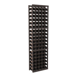 Wine Racks America - 5 Column Standard Wine Cellar Kit in Pine, Black + Satin Finish - Growing wine bottle collections fit nicely in this 5 column design. Rock solid fabrication in pine or redwood materials makes wine storage a stress free hobby. Whether beginning or expanding your wine cellar, these racks are sure to please. We guarantee it.