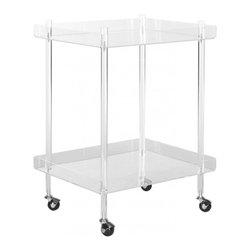 Safavieh - Healy Acrylic Kitchen Cart - Healy Acrylic Kitchen Cart
