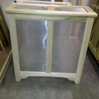 Custom Radiator Cover - Hand made to customer specs provided. FAS grade poplar wood used. Size shown is priced at $350. Price may vary based on customer specs. Any wood species may be used per customer request. Add $50 for finishing.