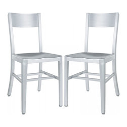 Modway Imports - Modway EEI-914-SLV Milan Dining Chairs Set of 2 In Silver - Modway EEI-914-SLV Milan Dining Chairs Set of 2 In Silver