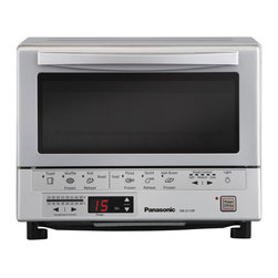 Panasonic - Toaster Oven - 1300-Watt toaster oven with double infrared (near and far) heating - no preheating necessary