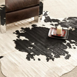 Safavieh - Safavieh Cow Hide Rug with Black/White X-5-B112HOC - Produced in Argentina, the Safavieh cowhide rug offers exceptional decorator quality and design. The hand woven superior skins are handpicked to ensure natural appearance and quality will endure over time.