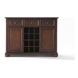 Crosley - Alexandria Buffet Server-Sideboard Cabinet with Wine Storage - Dimensions: 18 x 47.8 x 36 inches