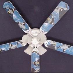Ceiling Fan Designers Batman Superhero Indoor Ceiling Fan - Your guy lives and breathes Batman so getting the Ceiling Fan Designers Batman 3 Indoor Ceiling Fan is a no-brainer. This ceiling fan and light kit will light up and cool down his room in style. It comes in your choice of size: 42-inch with 4 blades or 52-inch with 5. The blades are reversible, which means the Batman design is on one side and basic white is on the other. Just in case he ever wants to change it up. It has a powerful yet quiet 120-volt, 3-speed motor with easy switch for year-round comfort. The 42-inch fan includes a schoolhouse-style white glass shade and requires one 60-watt candelabra bulb (not included). The 52-inch fan has three alabaster glass shades and requires three 60-watt candelabra bulbs (included). Your ceiling fan includes a 15- to 30-year manufacturer's warranty (based on size). It is not an officially licensed product. Licensed products were used as decorations.