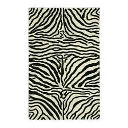 Noble House - Safari Black/White Rug - This collection imitates colors of various wild life creatures. These rugs were developed with pure New Zealand wool to provide a safari feel to the rooms' decor. Hand Tufted quality in Transitional floral designs with refreshing colors of earthy tones, mixed with the trendy soft tones to give an eclectic look to the home decor. This collection is produced with fine Indian wool. Features: -Technique: Tufted.-Material: New Zealand wool.-Depending on amount of traffic on rugs, professional cleaning or washing is required every 1 to 2 years..-Rugs should be vacuumed on regular basis to remove dust and dirt which would restore life to the fibers. Do not vacuum the fringes. Do not Vacuum Shaggy rugs as it will damage the rug. To clean the Shaggy rug, flip it over and shake well by hand..-To avoid spills setting deep and becoming stubborn, it is recommended to act immediately. When spills occur on rugs, put some water in the affected area to dilute, blot with clean white cloth or paper towel. Remove the moisture as much as possible by blotting with absorbent cloth or thick paper towel. Do not rub spills as could result in setting spills deeper in the affected area..-Features:Construction: Handmade.-Recommended Care:Do not expose rugs in direct sun light for longer time as it could result in faded colors of rugs..-Collection: Safari.-Distressed: No.-Collection: Safari.-Construction: Handmade.-Technique: Tufted.-Primary Color: Black-White.-Type of Backing: Latex.-Material: Wool.-Fringe: No.-Reversible: No.-Rug Pad Needed: No.-Water Repellent: No.-Mildew Resistant: No.-Stain Resistant: No.-Fade Resistant: No.-Eco-Friendly: No.-Recycled Content: No.-Outdoor Use: No.-Product Care: In case of liquid, blot clean with undyed cloth by pressing firmly around the spill to absorb as much as possible..Specifications: -CRI certified: No.-Goodweave certified: No.Dimensions: -Pile height: 0.08''.-Overall Dimensions: 96-132'' Height x 60-96'' Width x