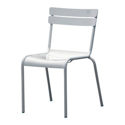 Nuevo Living - Mercel Dining Chair in White Aluminum by  Nuevo - HGMS214 - The Mercel Dining Chair in white aluminum by Nuevo features an aluminum frame and is perfect for indoor or outdoor use.   Lightweight but sturdy, the Mercel can be used for both residential or commercial needs like restaurants.