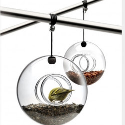 Eva Solo Bird Feeder - This glass bird feeder is gorgeous. I love the donut motif and how the glass actually makes it so the seed is incorporated in the overall look. It's a very cool feeder.