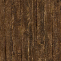 Brewster - Textures, Techniques & Finishes Wood Pane Wallpaper - Bring that cozy cabin feeling to your decor. This rustic wallpaper has the authentic texture and detail of wood — a natural for your favorite casual setting.