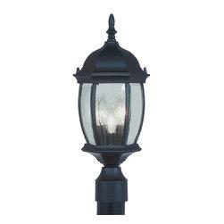 Livex Lighting - Livex Lighting 7538-04 Kingston Post Mount Black - -Finish: Black