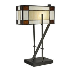 Dale Tiffany - Dale Tiffany TT12414 Diamond Hill 1 Light Table Lamp - Features: