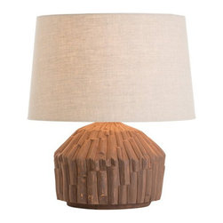 Arteriors Home - Arteriors Home Paramano Lamp - Arteriors Home DK17019-225 - Arteriors Home DK17019-225 - The Paramano Lamp exhibits the handmade earthy quality of terra cotta and hand applied glazes. The neutrality and texture of this piece makes it appropriate for both modern and traditional interiors.Designer: Laura Kirar