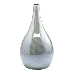 Cyan Design - Petra Vase - Small - Small petra vase - white and smoked