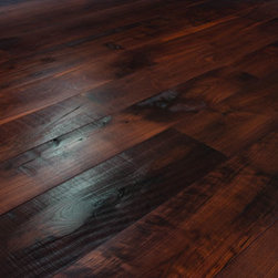 Carlisle Wide Plank Floors - These dark hardwood floors are durable and attractive.