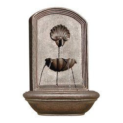 The Napoli Wall Fountain, Weathered Bronze - The Napoli Wall Fountain is a centerpiece of serenity and beauty of nature for your garden or outdoor space. This fountain brings tranquility and serenity through its flowing sounds and a feeling of being one with nature.