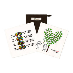People Towels - PeopleTowels 2 Day Supply - Love Set - Your love for the planet runs deep, so show it off to the world with the PeopleTowels Two Day Supply Love Set. This two-piece set gives you the perfect solution for replacing paper towels at home or on the go. The set includes the award-winning Love, No