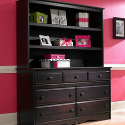 Generation Next Double Dresser & Hutch - •Double dresser features 3 smaller drawers on the upper row and 4 large, roomy drawers on the bottom rows