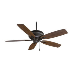 """MinkaAire - MinkaAire F614-ORB Oil Rubbed Bronze  5 Blade 54"""" Ceiling Fan with - MinkaAire Timeless 5 Blade 54"""" Ceiling Fan with Blades Included Blades:  French Beige finish comes with Medium Maple Blades Florentine Brass comes with Dark Walnut Blades Dark Brushed Bronze finish comes with Dark Maple Blades Mottled Copper with Golden Highlights finish comes with Dark Walnut Blades Patina Iron finish comes with Dark Maple Blades Pewter finish comes with Dark Walnut Blades  Fan Includes:  5 Fan Blades 14- Blade Pitch 3 Speed Chain Pull Manual Reverse Standard Assembly 6"""" Downrod Minimum-length 3.5"""" Downrod Lifetime Warranty For recommended remote and wall control see Model# RCS223, WC105-WH, WC106-WH, WCS223  Energy Information:  Airflow (CFM): 6257 Cubic Feet Per Minute Airflow Efficiency: 89 Cubic Feet Per Minute Per Watt Electricity Rate: 70.5 Watts Energy Star Approved"""
