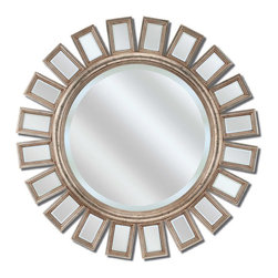 Paragon - Round Metro Silver - Mirrors Decorative - Each product is custom made upon order so there might be small variations from the picture displayed. No two pieces are exactly alike.