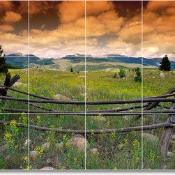 Picture-Tiles, LLC - Flower Photo Shower Tile Mural F125 - * MURAL SIZE: 18x24 inch tile mural using (12) 6x6 ceramic tiles-satin finish.