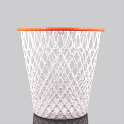 Spalding Crunch Time Basketball Net Wastebasket - For the superstar in you, nab this trash can/basketball net. Make a basket and score with every crumpled piece of paper you toss.