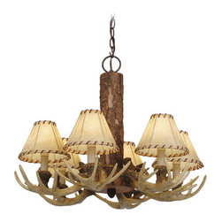 Vaxcel Lighting - Vaxcel Lighting CH33006 Lodge 6 Light One Tier Chandelier - Features: