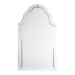 """Concepts Life - Concepts Life Accent Mirror  Art Deco - Add the illusion of space while employing the elegant simplicity of this lustrous art deco accent mirror, perfect for decorating a bedroom, livingspace, entryway, or bathroom. Works in both contemporary and traditional spaces.  Modern mirror with black MDF backing; D hooks attached for hanging. Product Dimensions: 21""""w x 1""""d x 43"""" h Weight: 27 lbs Mounting hardware not included Imported"""