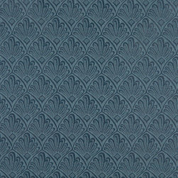 "Dark Blue Two Toned Fan Upholstery Fabric By The Yard | Width: 54"" - P2711 is great for residential, and commercial applications. This fabric will exceed at least 35,000 double rubs (15,000 is considered heavy duty), and is easy to clean and maintain."