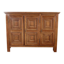 Vintage Golden Oak Sideboard Cabinet - Country of Origin: Holland