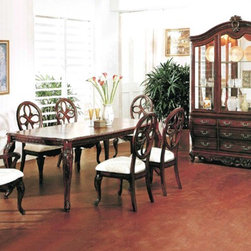 Yuan Tai Furniture - Cassandra 6 Piece Dining Room Set - 1087T-6SET - Set includes Dining Table, 4 Side Chairs and Hutch/Buffet