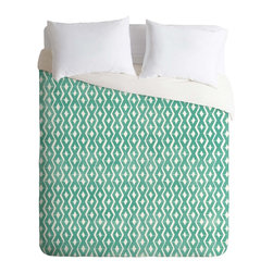 DENY Designs - DENY Designs Loni Harris Summer Diamonds Duvet Cover - Lightweight - Turn your basic, boring down comforter into the super stylish focal point of your bedroom. Our Lightweight Duvet is made from an ultra soft, lightweight woven polyester, ivory-colored top with a 100% polyester, ivory-colored bottom. They include a hidden zipper with interior corner ties to secure your comforter. It is comfy, fade-resistant, machine washable and custom printed for each and every customer. If you're looking for a heavier duvet option, be sure to check out our Luxe Duvets!