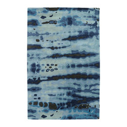 Kaleen - Kaleen Brushstrokes Collection Brs03-17 8'X11' Blue - The artistic inspirations of the Brushstrokes collection finally brings you a true piece of art for your floor! Beautiful hand-painted designs accentuated from a smooth and steady motion, this assortment features a unique spotlight of fantastic color combinations. Each rug is perfectly executed and detailed in this 100% wool, hand-tufted rug made in India.