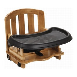Safety 1st Nature Next Bamboo Booster Seat - I think this is such an attractive booster seat; plus, it's made of durable bamboo. The booster seat has an easy-to-remove tray with three adjustable positions and a 3-point harness.