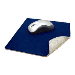The Felt Store - Felt Dual Sided Mouse Pad - Gray And Royal Blue - The Dual Sided Mousepad is made of gray industrial felt, and colored viscose felt on one side. It's a great way to spice up your office, cubicle, or desk at home! Use the mousepad colored side up, or vice versa; change it up depending on your mood. This mousepad measures 9 inches square and 3mm thick and features rounded corners for a stylish look. Available in colors of Violet, Royal Blue, Burgundy and Black.
