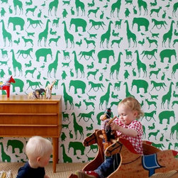 Ferm Living Animal Farm Wallpaper - Ferm Living's Wallpaper is graphic & whimsical adding character, charm and personality to any room. Wallpaper has a striking effect and will without a doubt turn your room into a sanctuary.