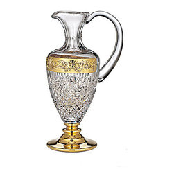 Waterford Crystal - Waterford Crystal Lismore Castle Gilded Pitcher 156463 - Waterford Lismore Castle Gilded Pitcher  -  Don't Buy From An Unauthorized Dealer  -  Genuine Waterford Crystal  -  Fully Authorized U.S. Waterford Crystal Dealer  -  Stamped With The Waterford Seahorse Symbol Of Excellence  -  Waterford Crystal UPC Number: 024258506879