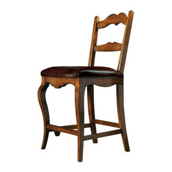 Hekman Furniture - Rue de Bac Pub Chair - Set of 2 - Set of 2. Leather slip seat standard. Warranty: One year. Made from select solids and veneers. Cognac finish. Seat height: 26.25 in.. Seat width: 21.5 in.. Seat depth: 19 in.. Overall: 21 in. W x 20 in. D x 43 in. H