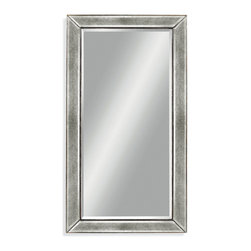 Bassett Mirror - Bassett Mirror Beaded Wall Mirror - Complete your contemporary decor with the large Beaded Wall Mirror. Featuring a silver leaf finish with beveled edging and beaded piping, this mirror works well with both neutral and bold color schemes. Hang it in a dining room for a simple, sophisticated look.