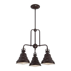 Quoizel - Quoizel EVE5103PN Eastvale 3 Light Chandeliers in Palladian Bronze - The Eastvale series pairs a vintage industrial look with modern sensibility. Attention to fine details and a rich Palladian Bronze finish allow this distinctive fixture suit a variety of interior design styles.