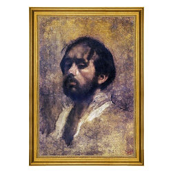 """Edgar Degas-16""""x24"""" Framed Canvas - 16"""" x 24"""" Edgar Degas Self Portrait framed premium canvas print reproduced to meet museum quality standards. Our museum quality canvas prints are produced using high-precision print technology for a more accurate reproduction printed on high quality canvas with fade-resistant, archival inks. Our progressive business model allows us to offer works of art to you at the best wholesale pricing, significantly less than art gallery prices, affordable to all. This artwork is hand stretched onto wooden stretcher bars, then mounted into our 3"""" wide gold finish frame with black panel by one of our expert framers. Our framed canvas print comes with hardware, ready to hang on your wall.  We present a comprehensive collection of exceptional canvas art reproductions by Edgar Degas."""