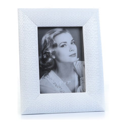 "Concepts Life - Concepts Life Photo Frame  Loving Link  White  5x7"" - Inspired by fine jewelry, these white Loving Link frames will add sparkle and a hint of romance to your photograph collection. Ideal for your home as well as for your loved ones!  Modern home accent Contemporary white picture frame Beautiful and elegant home accent Rectangular photo frame Made of polyresin Textured glossy finish Easel back for horizontal or vertical display Various sizes available Holds 5 x 7 in. size photo Dimensions: 8""w x 10""h x 1""d Weight: 2 lbs"